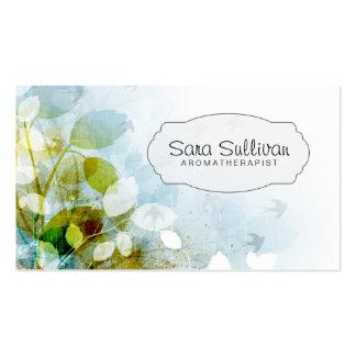 Aroma Therapist Elegant Nature Business Card