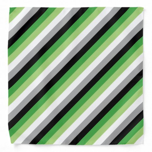 Aromantic Flag Bandana