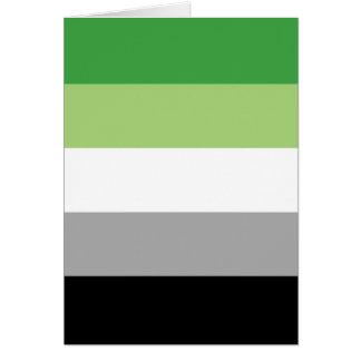 Aromantic flag card
