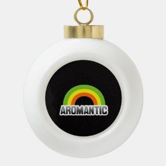 Aromantic Pride Ceramic Ball Christmas Ornament