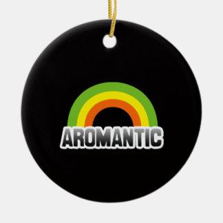 Aromantic Pride Ceramic Ornament