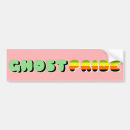 Aromantic Pride Ghost Pride Bumper Sticker