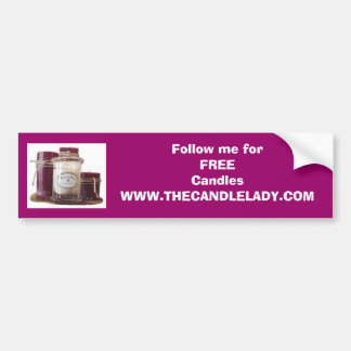 aromat, Follow me forFREE CandlesWWW.THECANDLEL... Bumper Sticker