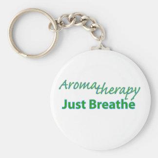 Aromatherapy - apenas respire llavero redondo tipo pin