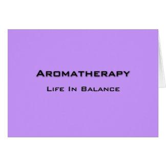 Aromatherapy - Black text Card