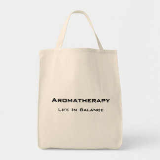Aromatherapy - Black text Tote Bag