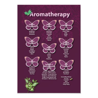 Aromatherapy Chart in Burgundy 5x7 Paper Invitation Card
