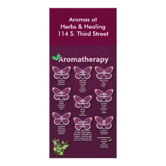 Aromatherapy Chart in Burgundy Rack Card
