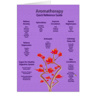 Aromatherapy Chart in Lavender Card