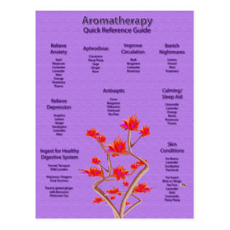 Aromatherapy Chart in Lavender Postcard