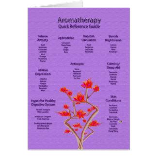 Aromatherapy Chart Lavender Greeting Card