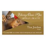 Aromatherapy de la terapia del masaje del balneari tarjeta de visita