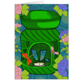 Aromatherapy oil burner card