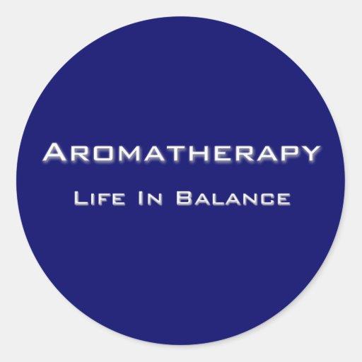 Aromatherapy - texto blanco etiquetas redondas
