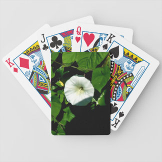 Aromatic White wild flowers under the shadow Bicycle Poker Deck