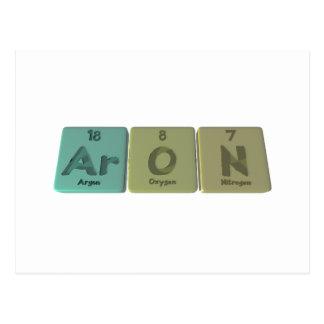 Aron como nitrógeno del oxígeno del argón postales