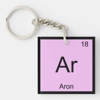 Aron Name Chemistry Element Periodic Table Keychain