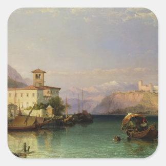 Arona and the Castle of Angera, Lake Maggiore, 185 Sticker