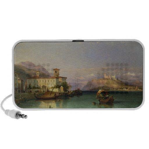 Arona y el castillo de Angera, lago Maggiore, 185 Notebook Altavoz
