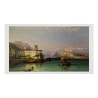 Arona y el castillo de Angera, lago Maggiore, 185 Póster