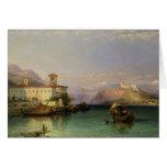 Arona y el castillo de Angera, lago Maggiore, 185 Felicitación
