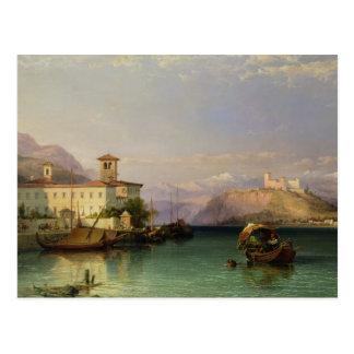 Arona y el castillo de Angera, lago Maggiore, 185 Tarjeta Postal
