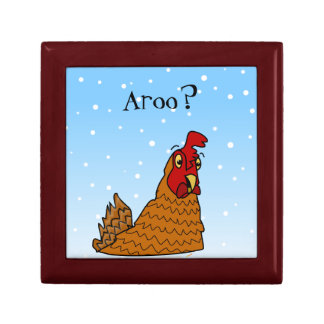 Aroo Funny Chicken Lover Christmas or Winter Snow Gift Box