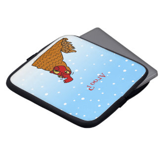 Aroo Funny Chicken Lover Christmas or Winter Snow Laptop Computer Sleeve