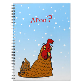 Aroo Funny Chicken Lover Christmas or Winter Snow Notebook
