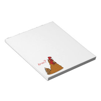 Aroo Funny Chicken Lover Christmas or Winter Snow Notepad