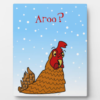 Aroo Funny Chicken Lover Christmas or Winter Snow Plaque