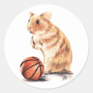 ¿Aros cualquier persona? Pegatinas del baloncesto Pegatina Redonda