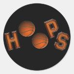 Aros de baloncesto etiquetas redondas