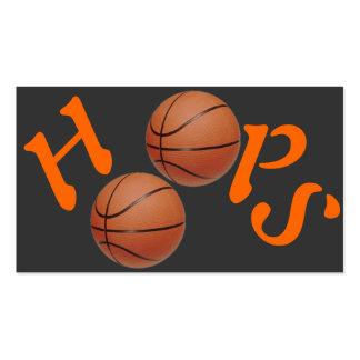 Aros de baloncesto tarjetas de visita