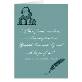 Aros de la cita de acero de Shakespeare Tarjeta De Felicitación
