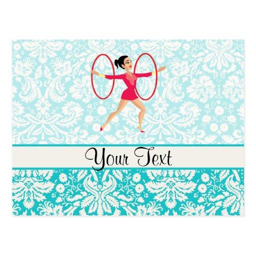 Aros de la gimnasia rítmica tarjeta postal