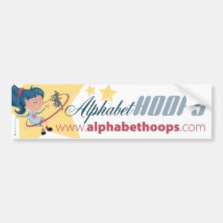 Aros del alfabeto: Pegatina para el parachoques Pegatina Para Auto