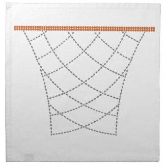 Aros del diamante servilleta imprimida