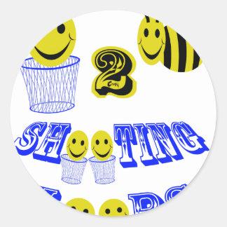aros del tiroteo de happy2bee pegatina redonda