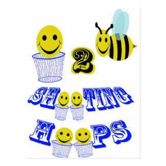 aros del tiroteo de happy2bee tarjeta postal