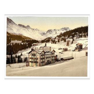 Arosa, in winter, Grisons, Switzerland vintage Pho Post Cards