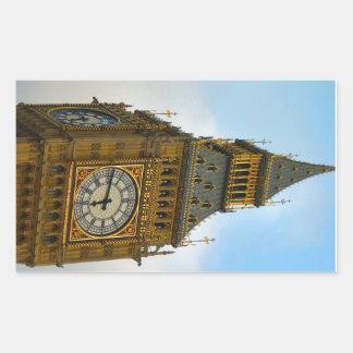 Around Britain,  Big Ben, Clock tower, Westminster Rectangular Sticker