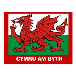 Around Britain, Flag of Wales, Cymru am byth Postcard