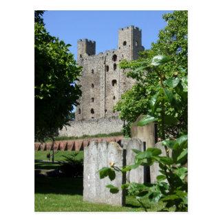 Around Britain,    Rochester castle Postcard