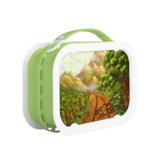 Around The Bend Acrylic Landscape Painting Lunch Box