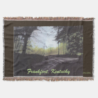 AROUND THE BEND FRANKFORT,KENTUCKY BLANKET THROW