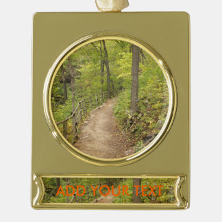Around the Bend Gold Plated Banner Ornament