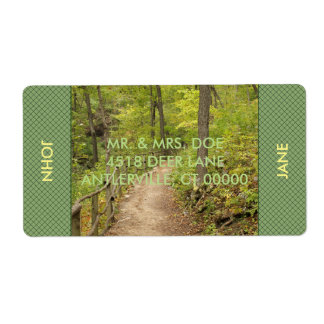 Around the Bend Personalized Shipping Label