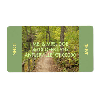 Around the Bend Custom Shipping Label