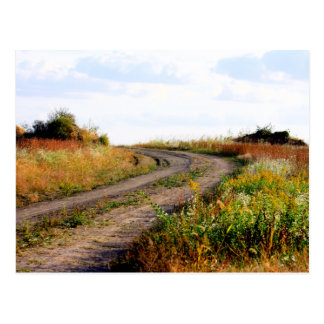 """Around The Bend"" Landscape Photography Art Postcard"